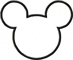 Mickey/Minnie Mouse head template (for quilt)