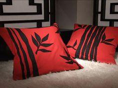 Almohadones con cañas de bambú