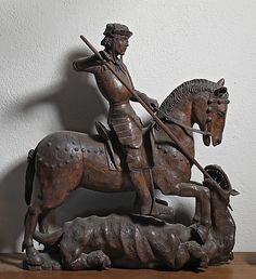 St. George and the Dragon  Date: early 16th century Culture: French Medium: Walnut