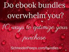 SchneiderPeeps: Do ebook bundles  overwhelm you?