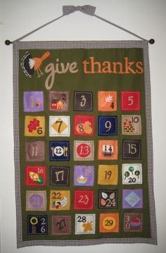 Thanksgiving advent...from Amber