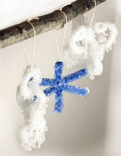 Crystal Ornaments #christmasdecorations