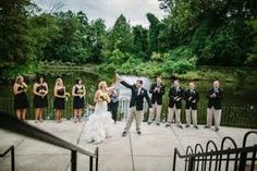 High Five! - Wedding ceremony at the Lakeside Pavilion- Photo by Brian Virts Photography #weddingsatMDZoo