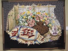 """My Quilt Diary: TOKYO International Great Quilt Festival part 1.  By Gang-Hee Lee, called """"Now, here I am happy"""". It is all in half-inch square pieces!"""