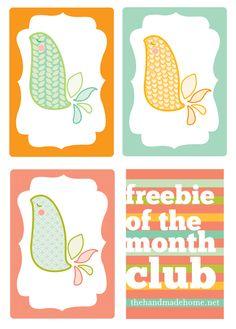 Free Printables- Little birdies