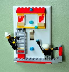 LEGO Switchplates Brighten Up the Boys' Rooms