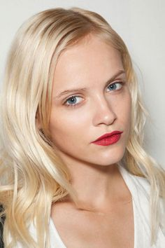 Red Signals at Dolce & Gabbana - Best Spring 2013 Fashion Week Makeup Looks