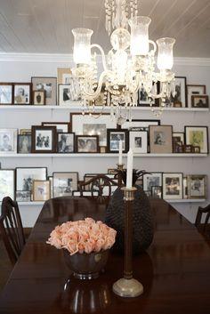 Impressive photo wall