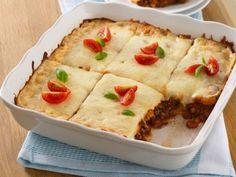 Lasagna Squares :: Freezer Cooking Meal