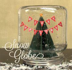 DIY snow globe using free shape of the week 11/20