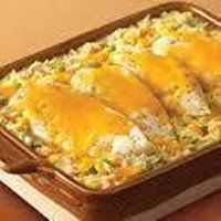CHEESY CHICKEN and Rice casserole recipe