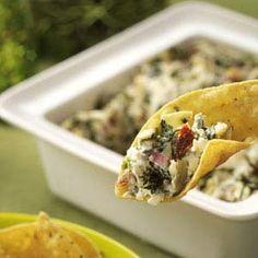 Artichoke Dip Recipes from Taste of Home, including Artichoke, Spinach & Sun-Dried Tomato Dip Recipe