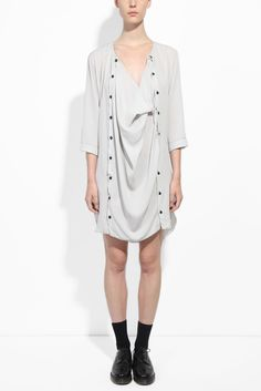 Organic Silk Longsleeve Panel Dress | Collections | Honest by Nicolas Andreas Taralis