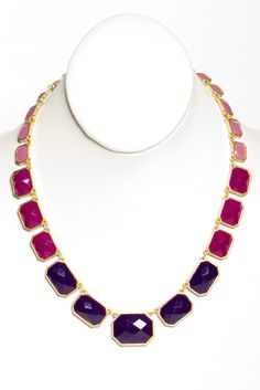 shades of violet necklace
