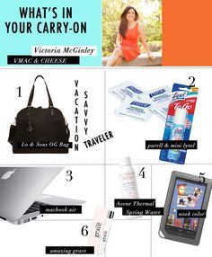 What's In Your Carry-On with @victoria / vmac+cheese #heycaryl