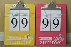 Love this general idea----but would do it as  count UP to 100 days of school!