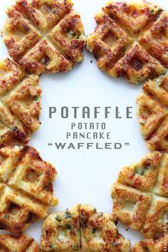 Potaffle: potato waffle...breakfast or side dish.