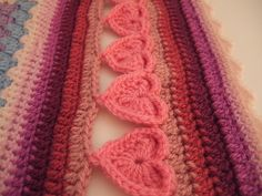 Line of Hearts Crochet Border