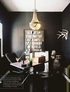 black office space