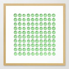 Little Balls (of various sizes) by Pixel404  FRAMED ART PRINT / CONSERVATION NATURAL MEDIUM (GALLERY) (22 X 22) $94.00