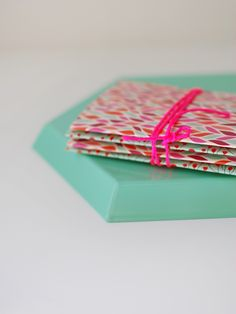 DIY: origami notebooks from tissue boxes