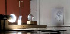 A homemade projector