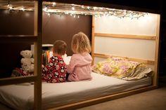 Ikea kura with christmas lights.