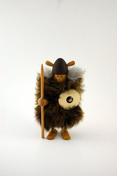 Danish Modern Wooden Viking Figurine by bitofbutter on Etsy, $32.00
