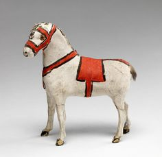 Toy horse figurine owned by the Prendergasts at Williams College Museum of Art, Prendergast Archive and Study Center