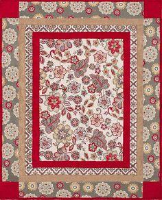 Cuddle Kit - Marrakech Scarlet Quilt Kit