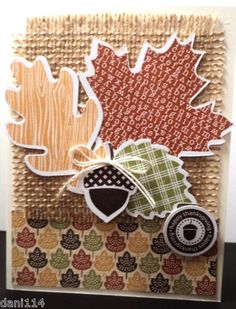 Stampin Up Thanksgiving Leaves 4 Completed Cards | eBay