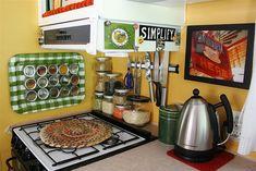 cute RV kitchen organization!