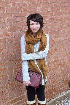 Cute short hair & fall outfit