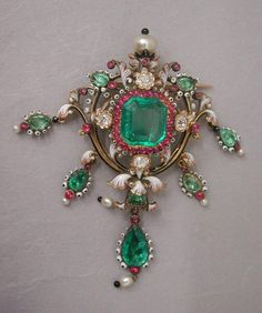 Brooch by Lucien Felize, 1870