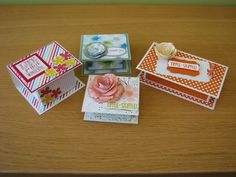 Box in a card | Papercraft Button