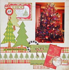 Our Tree - Two Peas in a Bucket  Christmas scrapbook page