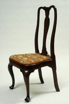 Side Chair, Wethersfield, CT, 1740-60. Cherry and pine. Museum of Fine Arts, Boston.