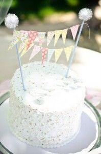 Bunting on cake