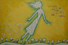 Flying Girl Cuts It Away or Let Go of All That is Not Yours by rowenamurillo, $25.00