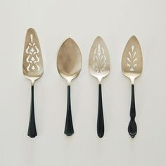 Charcoal Vintage Cake Servers Remodelista.com So chic! #PinToWin #Anthropologie