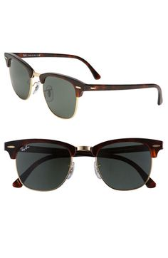Ray Ban Classic Clubmaster Sunglasses. Birthday list? Yes.