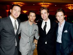 The temperature in the room at the Beverly Hilton gets hotter during Thursday's Hollywood Foreign Press Association dinner, where Channing Tatum, James Marsden, Robert Pattinson and Eddie Redmayne hold court.