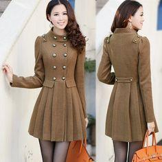 STYLISH WOMEN'S WINTER CLOTHES | Stylish Winter Long Coats Collection For Women 2 Stylish Winter Long ... jacket, woman fashion, cloth, style, button, woolen winter, winter coats for women, closet, trench coats