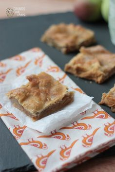 Danish Pastry Apple Bars | Crumbs and Chaos