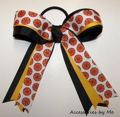 Basketball Hair Bow Ribbon Streamer Girls Team by accessoriesbyme, $13.99