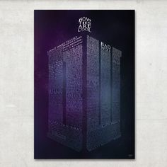 Doctor Who poster from Etsy