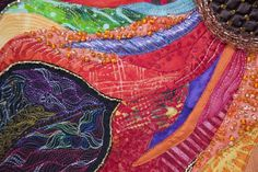 close up, beadwork by Judy Arnett. National Juried Show 2013 ~ Canadian Quilters' Association