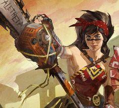Atomic Wonder Woman #dccomics #diana #amazon