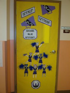 Classroom door decorating contest for the Florida Aptitude Test (FCAT)period.