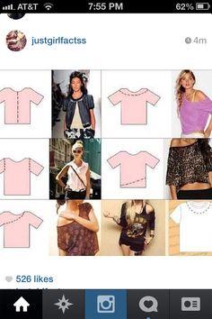 #diy #sorority #clothing #refashion diys shirts, shirt idea, shirt diy ideas, diy cloth, diy shirts